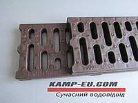 Дренажная решетка Камп коричневая полипропилен, фото 1