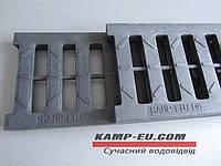 Ливневая решетка для лотков черная АБС пластик