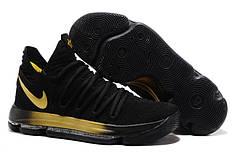 Чоловічі баскетбольні кросівки Nike KD 10 чорно золоті