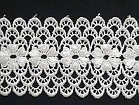 5537 Кружево текстильное 6,5 см (белый)