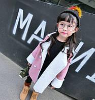 Теплаю уютная демисезонная дублёнка для девочки Розовая Мечта , фото 1