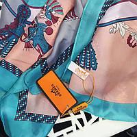 Палантин шарф шелковый Hermes (Гермес) топ модель, фото 1