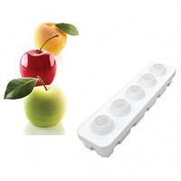 Форма для выпечки Silikomart  с подставкой d6 см h5,5 см силикон (Mela Ciliegia@ Pesca 115)