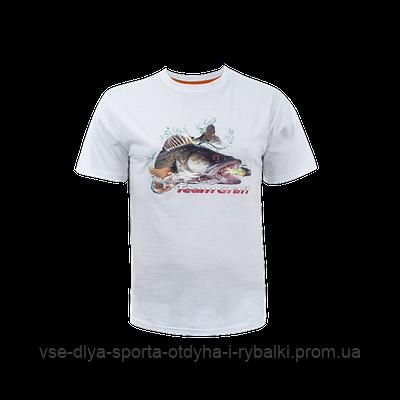 Футболка GRAFF для рыбалки белая