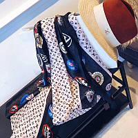 Палантин шарф шёлковый в стиле Louis Vuitton (Луи Витон)
