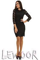 Шикарное платье из кружевного гипюра