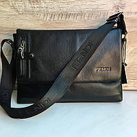 Кожаная мужская сумка Fendi Фенди