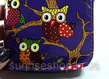Кошелёк детский для девочки Совушки  лакированный прямоугольной формы купить оптом и в розницу, фото 3