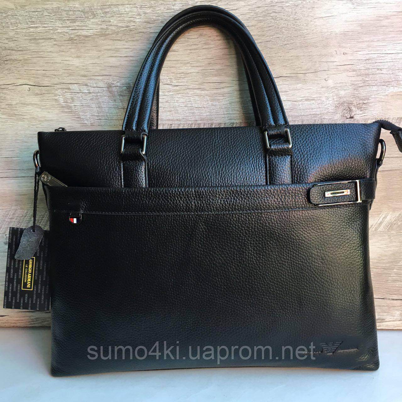 7acb49775a68 Мужская кожаная сумка (портфель) Giorgio Armani - Интернет-магазин «Галерея  Сумок»