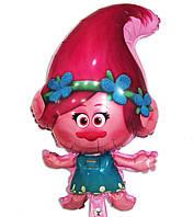 """Фольгированный шар фигурный """"Тролли"""" принцесса Розочка 75х43 см"""