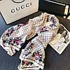 Шелковый шарф палантин Gucci (Гучи) модная новинка