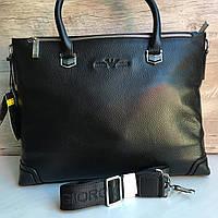 Мужская кожаный портфель Giorgio Armani