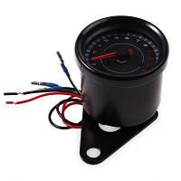 B719 Универсальный светодиодный Автоматический Электрический тахометр Датчик метр Чёрный