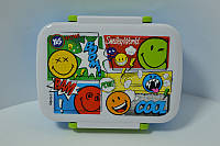 Контейнер для їжі з роздільником Smiley world, фото 1