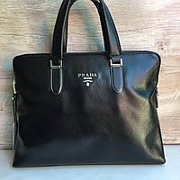 Кожаный портфель Prada Прада