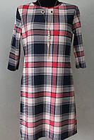 Платье женское клетка с кулоном, фото 1