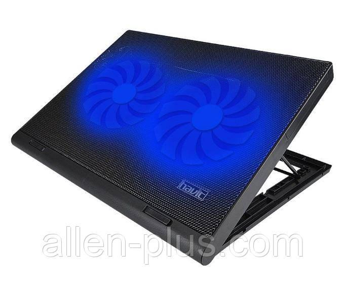 "Подставка-кулер для ноутбука HAVIT HV-F2050 (14-15,6""), USB, black, подсветка"