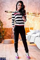 Женский спортивный костюм вязаный весенний Новинка Женская одежда недорого оптом розница
