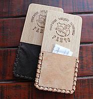 Расчетница, счетница для кафе и ресторанов из дерева и натуральной кожи - Шервуд, фото 1