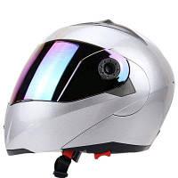 Полное Лицо Красочный Щит Двойной Козырек Мотоцикл Шлем M