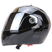 Серебрение Козырек Полного Лица Двойной Козырек Мотоцикл Шлем XL