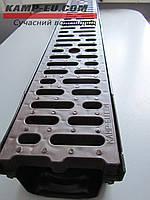Комплект поверхностного водоотвода 1м с корчневой ПП решеткой, фото 1