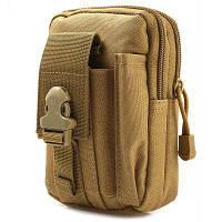 LeiTing практическая тактическая сумка талии мешок с креплением на открытом воздухе Коричневый