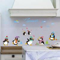 Мода Мультфильм животных шаблон Пингвины стены наклейки для детского сада Детская спальня Цветной