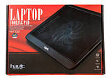 "Подставка-кулер для ноутбука HAVIT HV-F2010 (14-15,6""), USB, black, подсветка, фото 6"
