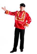 Национальный костюм мужской Хохлома красный \ размер 48 \ BL - ВМ196