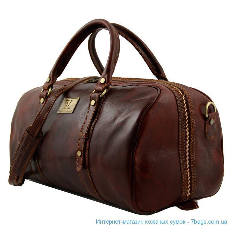 Маленькая кожаная дорожная сумка Tuscany Leather Francoforte TL140935  (Brown — коричневый) - Магазин кожаных 45cf08fdd0961