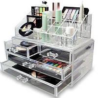 Акриловый   Органайзер для косметики Cosmetic Box 4 Drawer