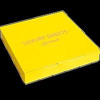 "Коробочка с конфетами ручной работы желтая ""Luxury Sweets Handmade"", 300 г."