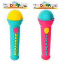 Микрофон 19,5см, муз, 2цвета, в кульке