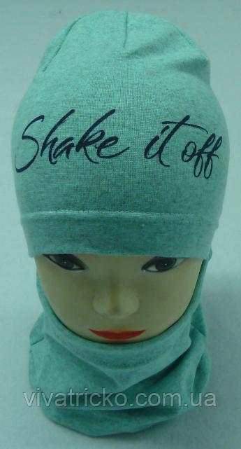"""Весняний комплект для дівчаток: шапка-буратіно + хомут """"Shake it off"""""""