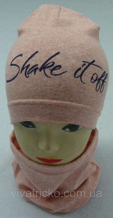 """Весняний комплект для дівчаток: шапка-буратіно + хомут """"Shake it off"""" Vivatricko"""