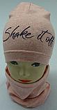 """Весняний комплект для дівчаток: шапка-буратіно + хомут """"Shake it off"""", фото 2"""