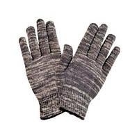 Перчатки х/б вязанные серые без швов