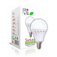 """Світлодіодна LED лампа SunLed Standart 3W E14 4100K """"шар"""" тип А45 255Лм"""