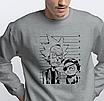 """Свитшот мужской серый с рисунком """"Енот"""", фото 6"""