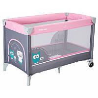 Детская манеж - кровать Baby Mix HR-8052-176 Sowa pink