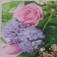 """Салфетка для декупажа """"Весенний букет"""" 33х33 см, 5, фото 1"""