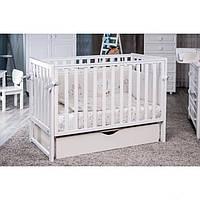 Детская кроватка Twins Pinocchio с ящиком белая 6612