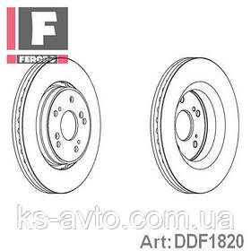 Диск передній гальмівний Honda CR-V 2.0 - 2.4 06- FERODO DDF1820