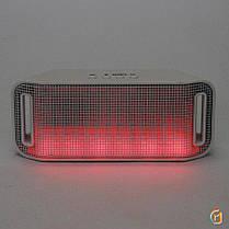 Портативная колонка A38 (Светомузыка, Bluetooth+USB+micro SD, FM, AUX, soft touch) black, фото 3
