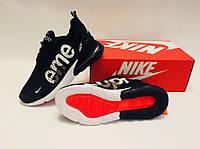Кроссовки Мужские Nike Air Max 270 Flyknit x Supreme, фото 1