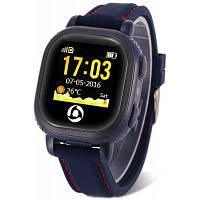 Tencent QQ Watch детские умные часы-телефон с GPS Тёмно-синий