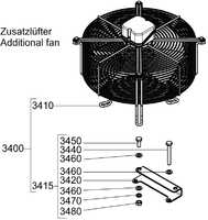 Вентилятор охлаждения компрессора  80045 для компрессора GEA Bock