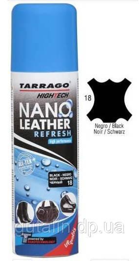 Аэрозоль краска для гладкой кожи Tarrago Nano Leather Refresh 200 мл цвет черный