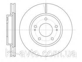 Диск передній гальмівний Mitsubishi Lancer 9 2.0/ 10 (5болтов) ROADHOUSE 61229.10